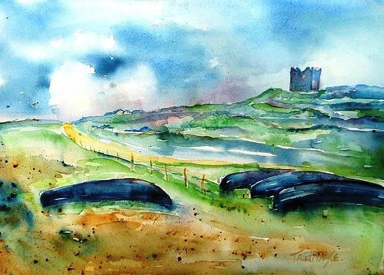 Ireland watercolor painting giclee print Irish painting Ireland Irish art seaside Irish cottage island painting wall art original Inisheer