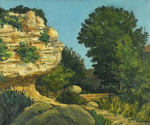 Rochers Print by Paul Cezanne