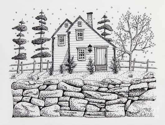 Pen And Ink Landscape Drawings Fine Art America