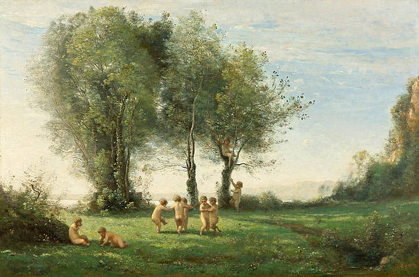Ronde D'Amours. Lever du Soleil Print by Jean-Baptiste-Camille Corot
