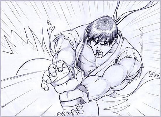 Street Fighter Drawings Fine Art America