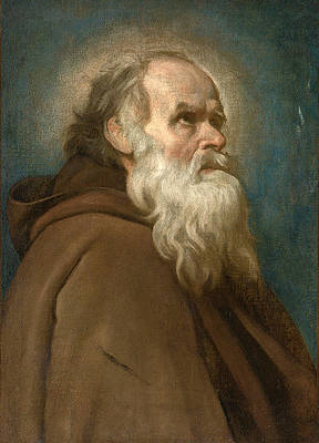 Saint Anthony Abbot Print by Attributed to Diego Velazquez