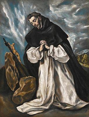 Saint Dominic in Prayer Print by El Greco