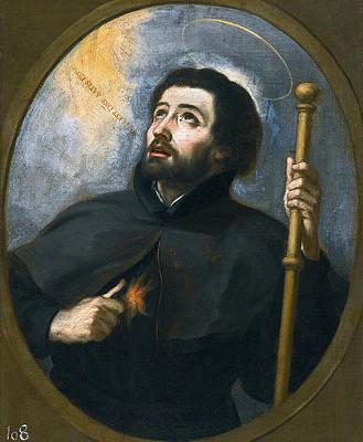 Saint Francis Xavier Print by Studio of Bartolome Esteban Murillo