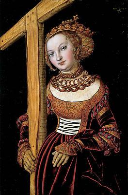 Saint Helena with the Cross Print by Lucas Cranach the Elder