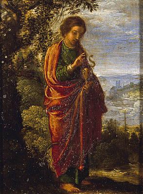 Saint John the Evangelist Print by Adam Elsheimer