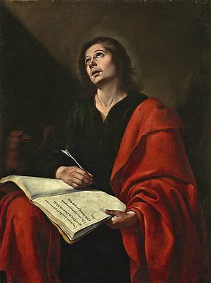 Saint John the Evangelist Print by Bartolome Esteban Murillo