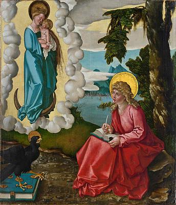 Saint John the Evangelist on Patmos Print by Hans Baldung Grien