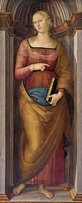Saint Margaret of Antioch Print by Pietro Perugino