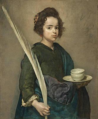 Saint Rufina Print by Diego Velazquez