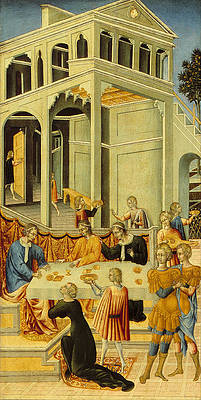 Salome Asking Herod for the Head of Saint John the Baptist Print by Giovanni di Paolo