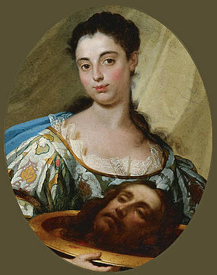 Salome with the Head of John the Baptist Print by Marco Benefial