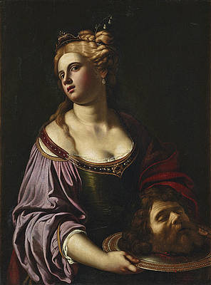 Salome with the Head of Saint John the Baptist Print by Antiveduto Gramatica