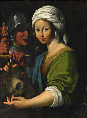 Salome with the Head of Saint John the Baptist Print by Bartolomeo Schedoni