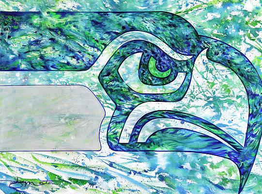 Seahawk Paintings Pixels