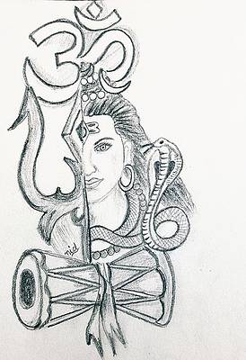 Shiva Drawings Fine Art America