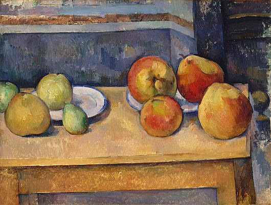 Still Life with Apples and Pears Print by Paul Cezanne
