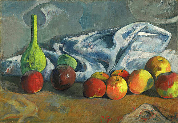 Still Life With Apples Print by Paul Gauguin