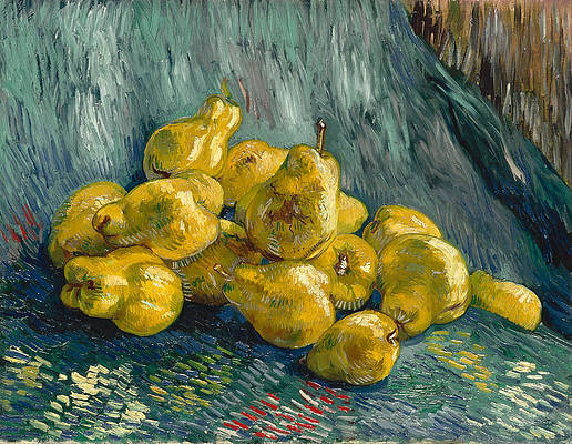 Still Life with Quinces Print by Vincent van Gogh