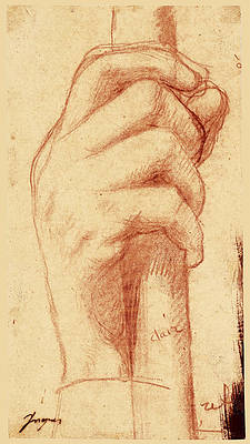 Study for the right hand of Jupiter Print by Jean-Auguste-Dominique Ingres