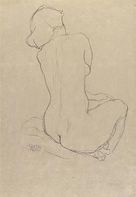 Study for the Virgin Print by Gustav Klimt