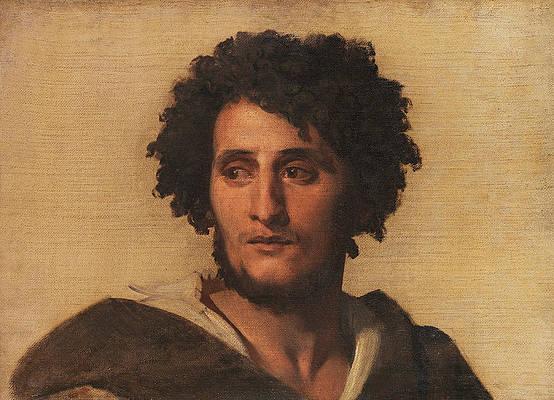 Study Head of a Roman Print by Anselm Feuerbach