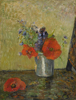 Summer Flowers in a Cup Print by Paul Gauguin