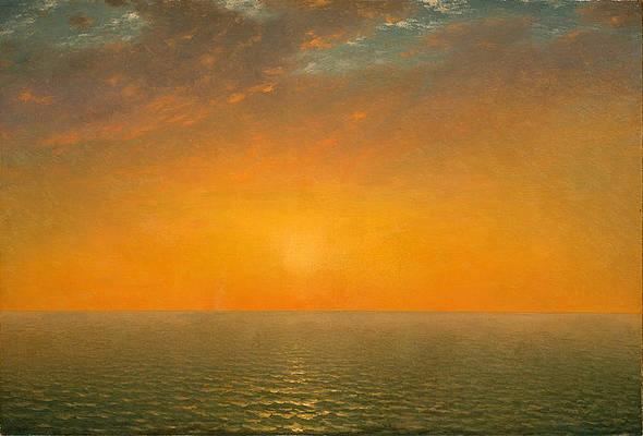 Sunset on the Sea Print by John Frederick Kensett