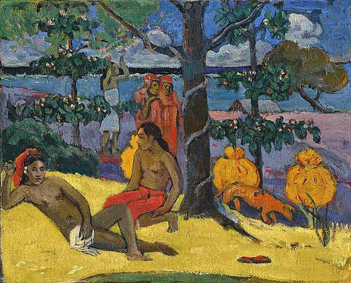 Te Arii Vahine. La Femme Aux Mangos II Print by Paul Gauguin