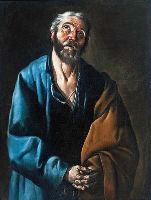 Tears of Saint Peter Print by Francisco de Zurbaran