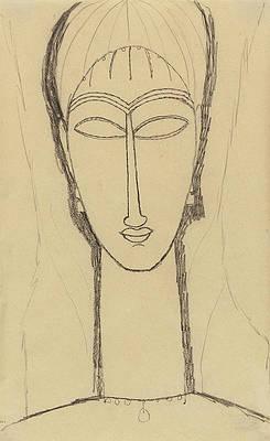 Tete de Cariatide Print by Amedeo Modigliani