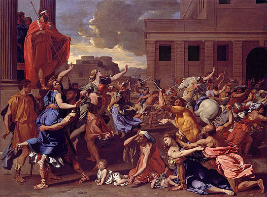 The Abduction of the Sabine Women Print by Nicolas Poussin