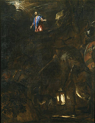 The Agony in the Garden of Gethsemane Print by Titian