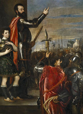 The Allocution of the Marquis del Vasto to his Troops Print by Titian