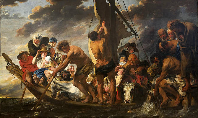 The Apostle Peter Finding the Tribute Money in the Mouth of the Fish Print by Jacob Jordaens