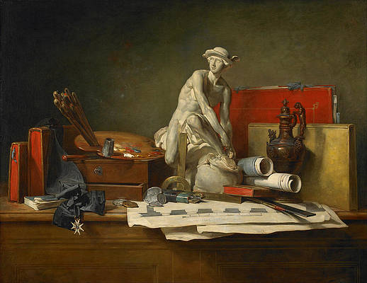 The Attributes of the Arts and the Rewards Which Are Accorded Them Print by Jean-Simeon Chardin