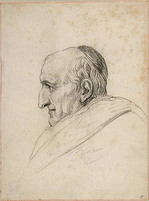 The Cardinal Pacca Print by Jacques-Louis David