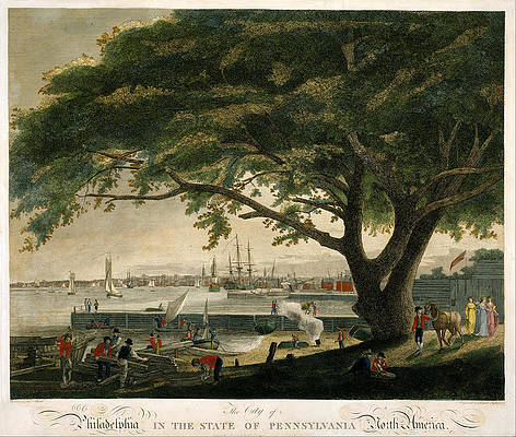 The City of Philadelphia in the State of Pennsylvania. North America Print by Samuel Seymour