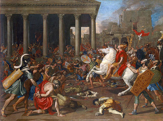 The Conquest of Jerusalem by Emperor Titus Print by Nicolas Poussin