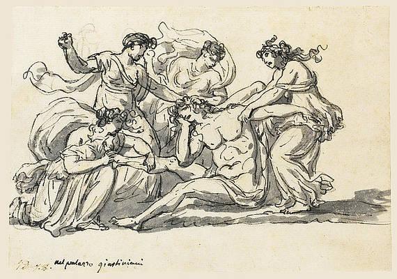 The Death of Pentheus Print by Jacques-Louis David