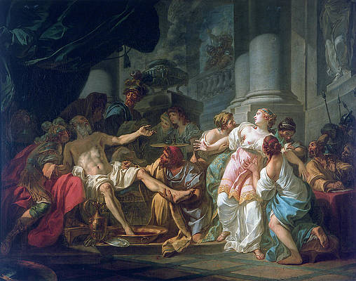 The Death Of Seneca Print by Jacques-Louis David