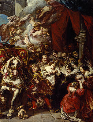 The Departure of Elisabeth of France for Spain Print by Eugene Isabey