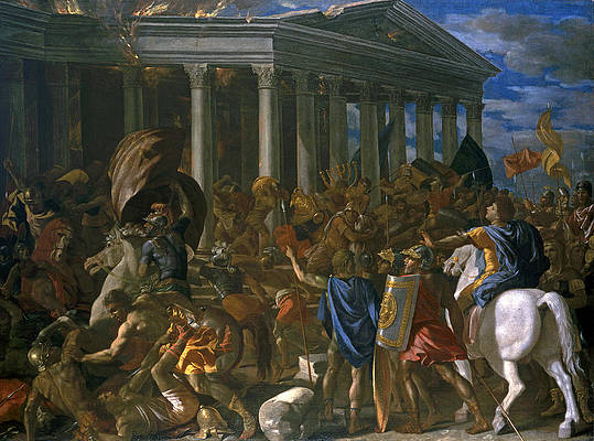 The Destruction and Sack of the Temple of Jerusalem Print by Nicolas Poussin