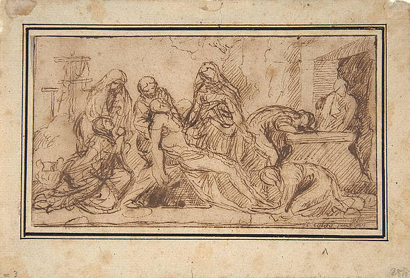 The Entombment Print by Nicolas Poussin