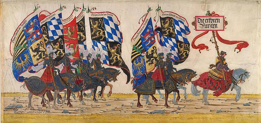 The German Princes Print by Albrecht Altdorfer and Workshop