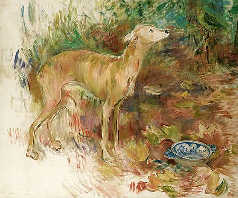 The Greyhound Laerte Print by Berthe Morisot