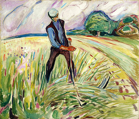 The Haymaker Print by Edvard Munch