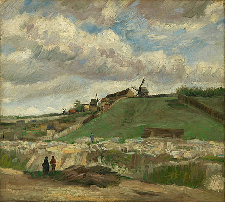 The hill of Montmartre Print by Vincent van Gogh
