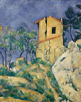 The House with the Cracked Walls Print by Paul Cezanne