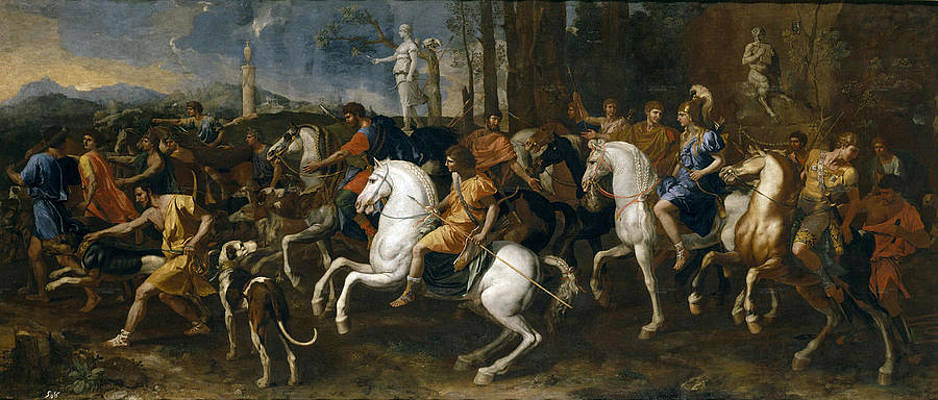 The Hunt of Meleager Print by Nicolas Poussin